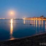 Reflejos de luz en el Mar Menor