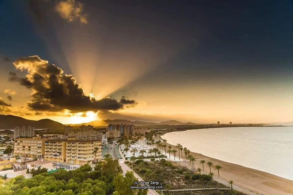 Aerial view of Playa Honda