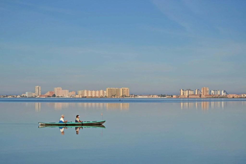 Paseo en barco Mar Menor en Playa Honda