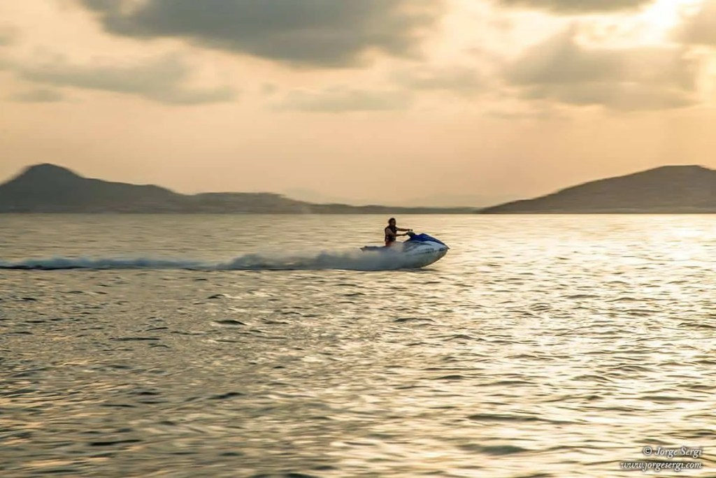 Jet ski in the Mar Menor