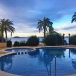 Puesta de sol en la piscina Verdemar 2