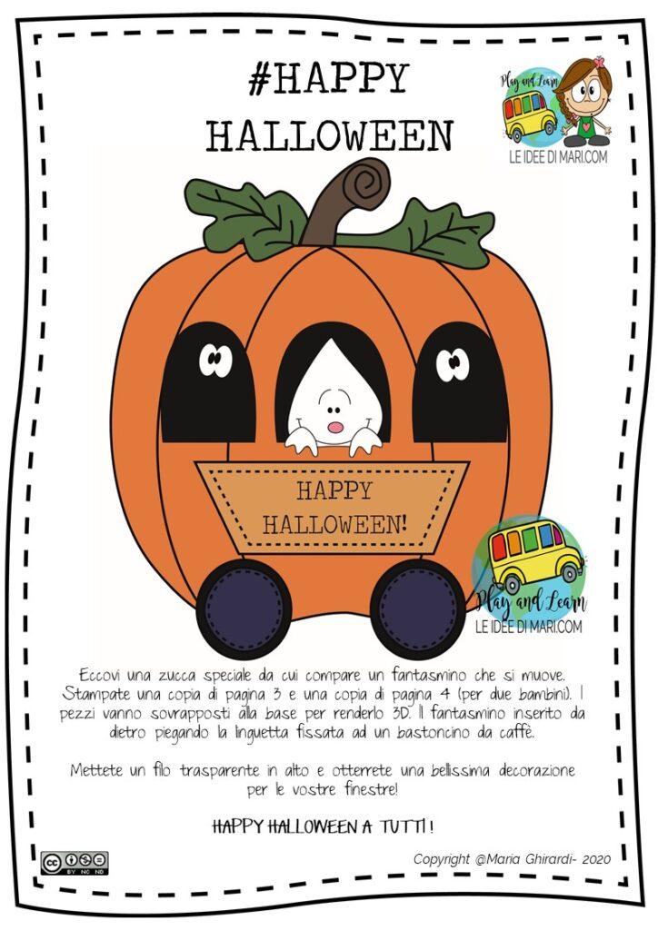 Halloween-zucca-fantasma da costruire bambini
