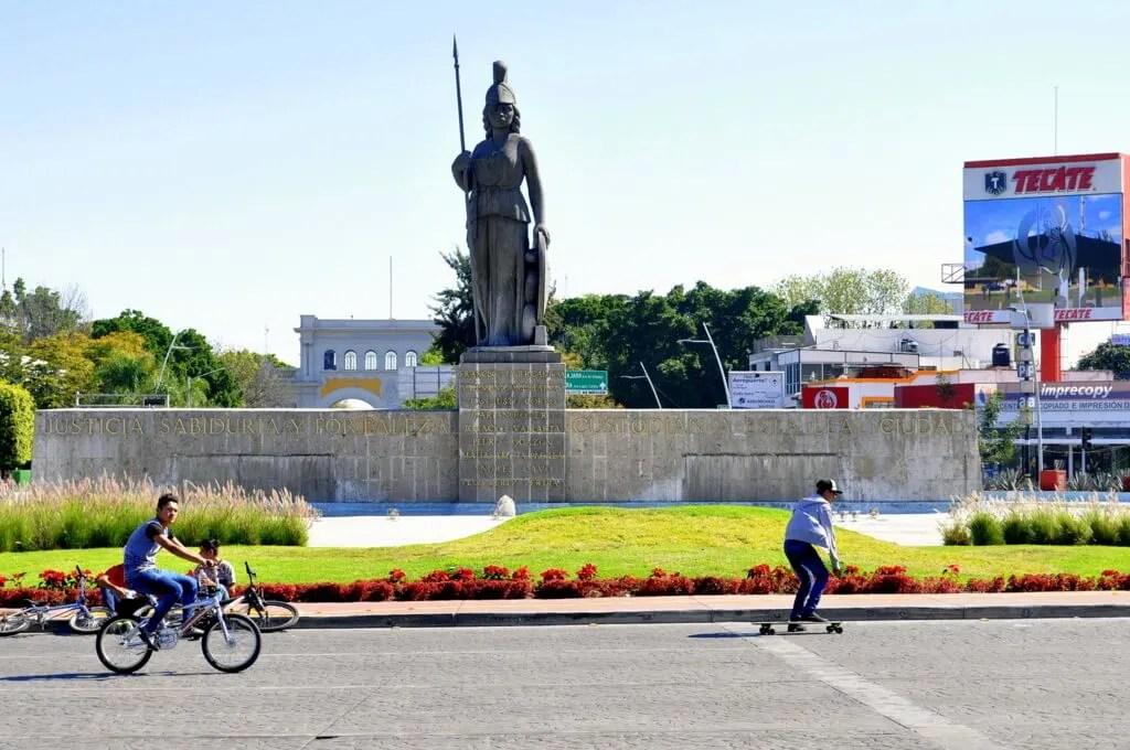 Glorieta Minerva during the Via Recreactiva, Guadalajara, Jalisco