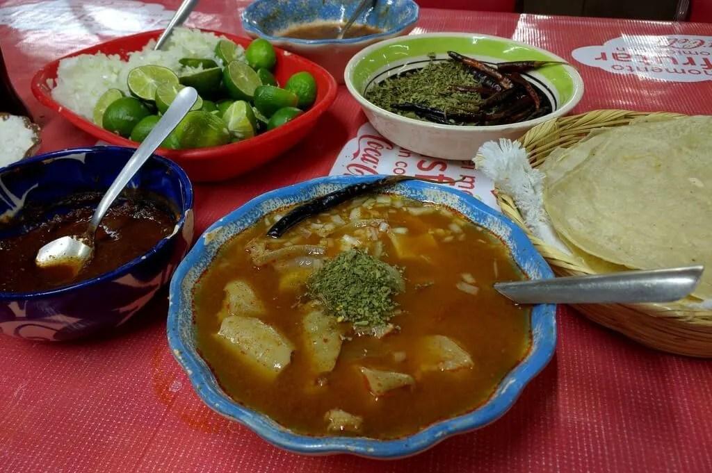 Menudo in Doña Chela, Mercado de Abastos, Guadalajara