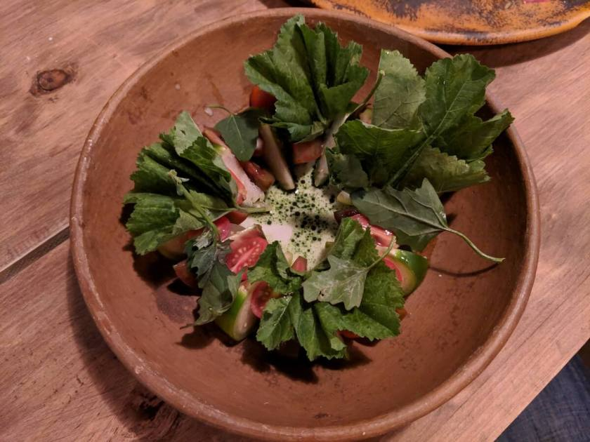 Green salad with the best tomatillos you will ever taste! Xokol