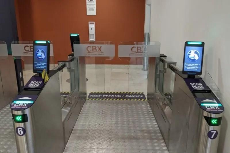 Cross Border Xpress ticket scanner