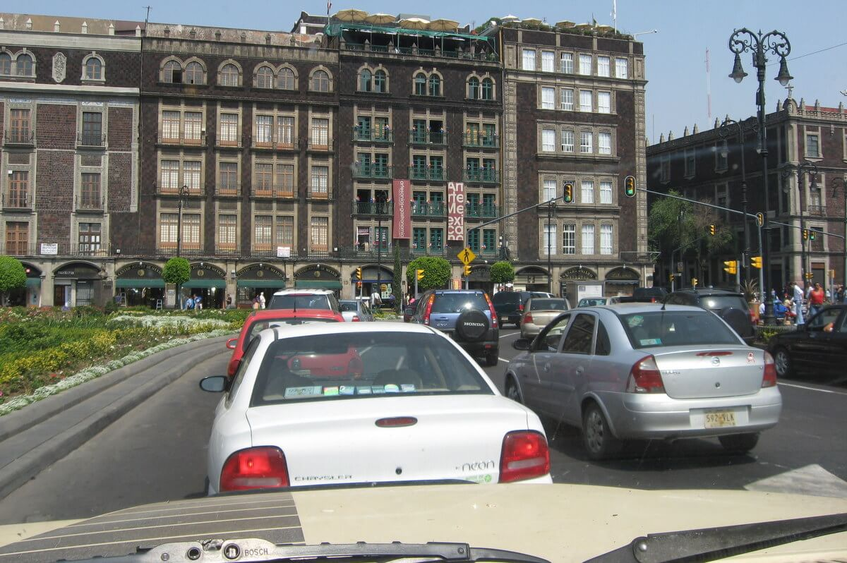 Driving in Mexico City's Zocalo