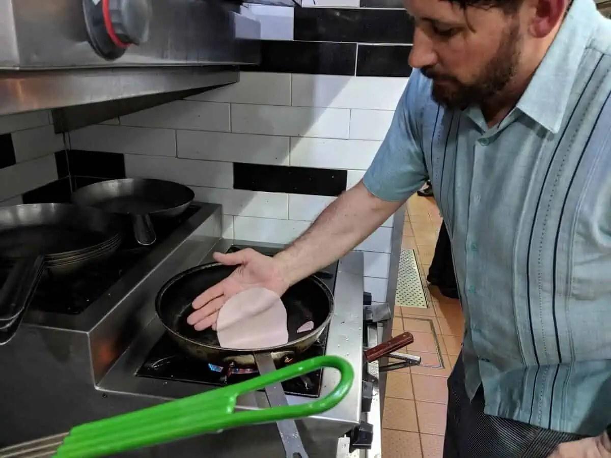 Paul Hudson making tortillas