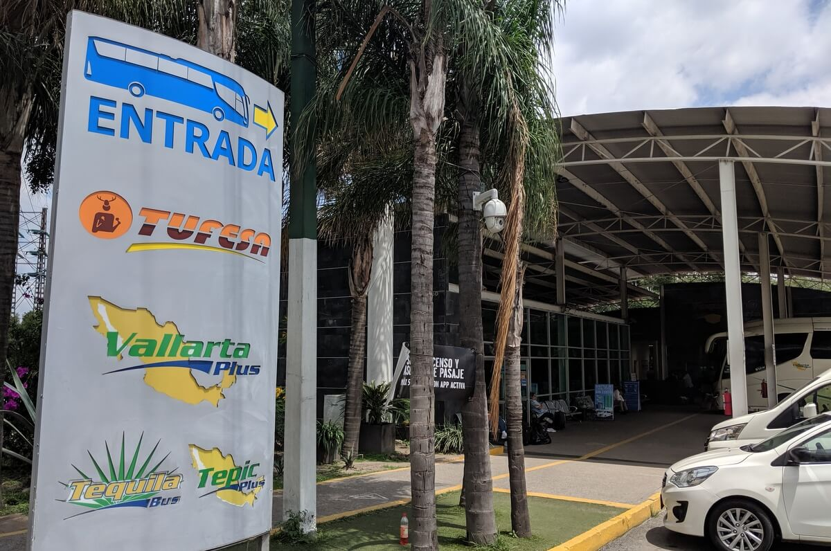 The bus terminal to Puerto Vallarta