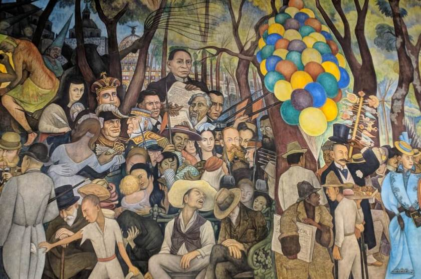 Diego Rivera Mural Museum in Mexico City left side