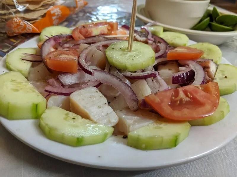 Raw scallops in Sinaloa