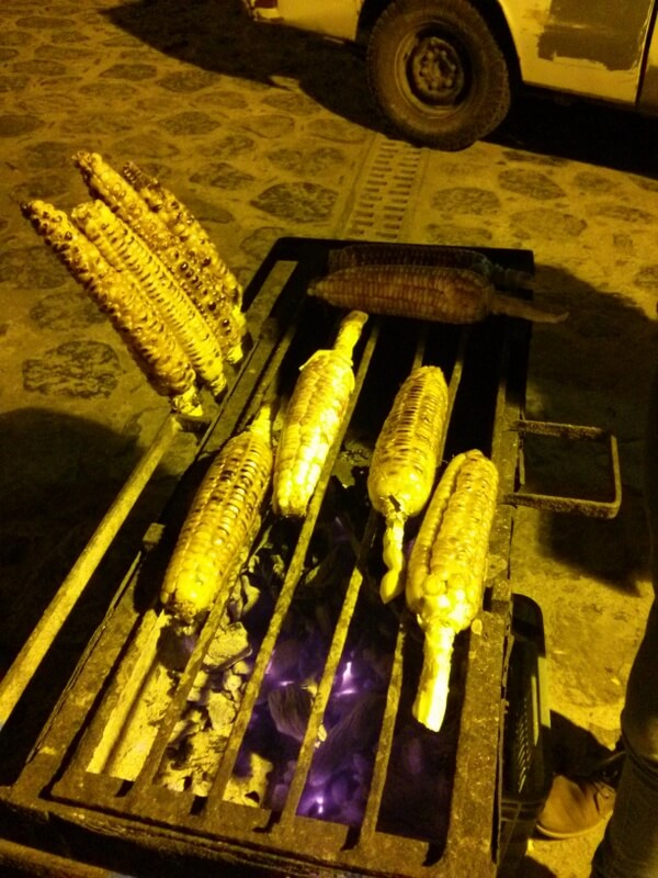 Eating corn on the cob is one of the most enjoyable parts of visiting the Pueblos Magicos in Jalisco