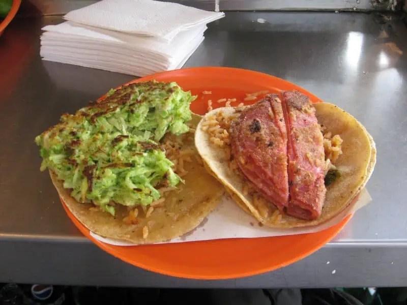 Tacos de fritanga in Mexico City