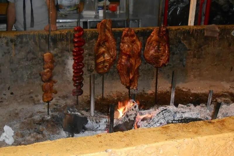 BBQ meats at the Guadalajara Expo Ganadera