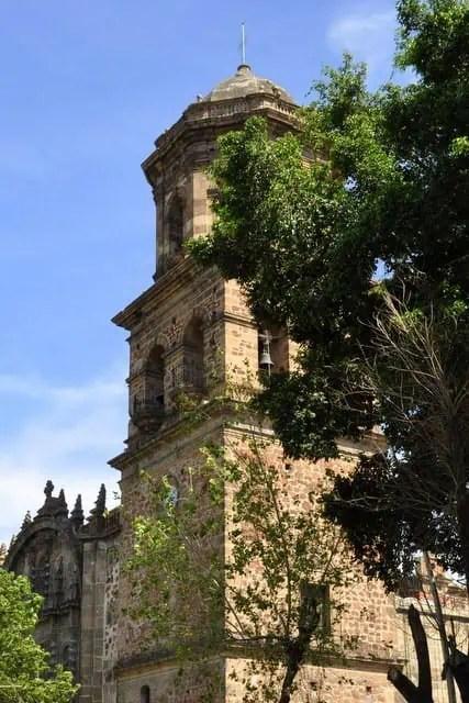 San Francisco de Asis bell tower in Guadalajara