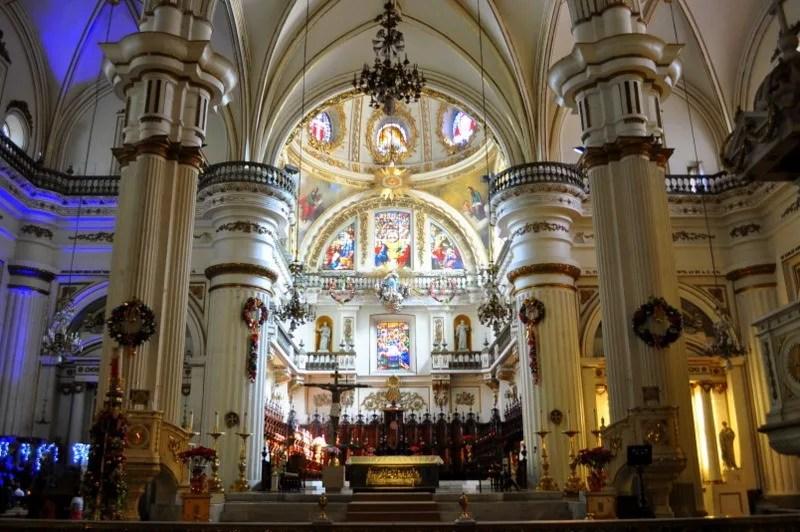 The main altar in the Guadalajara Metropolitan Cathedral