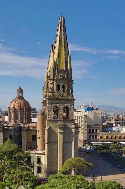 Guadalajara Cathedral gothic bell tower