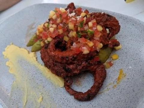 Adobo octopus at La Sal Restaurant in Manzanillo, Colima