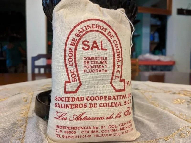 A bag of Colima sea salt from Cuyutlan