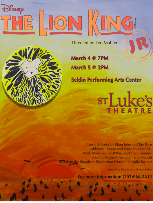 The Lion King Jr At St Lukes School Performances March 4 2016 To March 5 2016 Cover