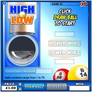 High Low Bingo
