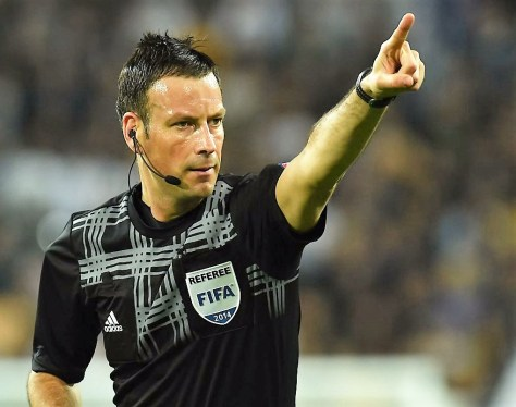 Mark Clattenburg Match referee Portugal vs France Euro Final 2016