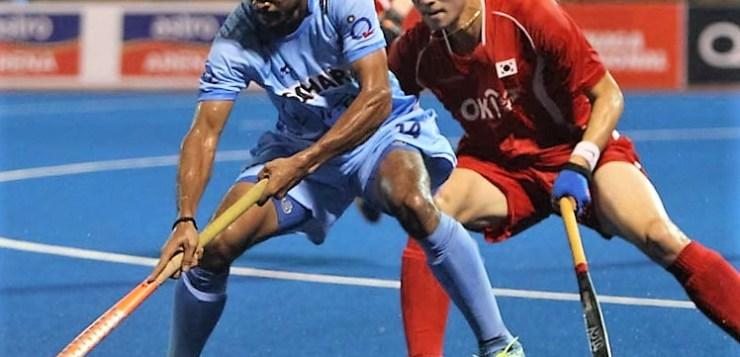 South Korea team against India