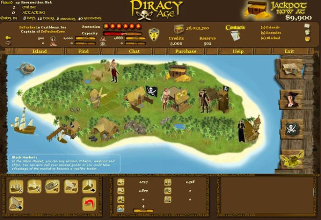 Piracy Age      PlayComet   Browser Game Features  New Browser Games     l piracy age 02