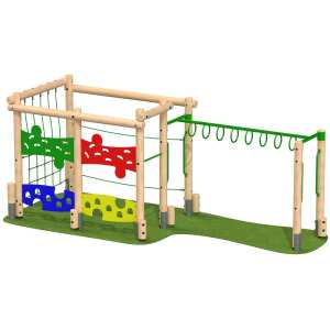 small activity frame, Playcubed, Valley Provincial, Primary school playground, recreation area, playground installation, playground construction, bespoke playground design, playground landscaping, inclusive play