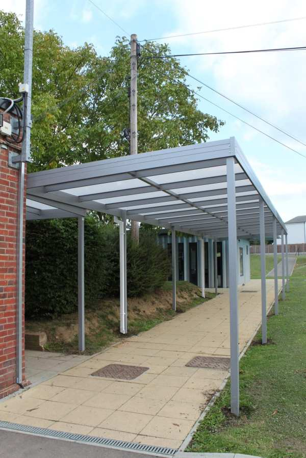 playground canopy, Aluminium canopy, Playcubed, Valley Provincial, Primary school playground, playground installation, playground construction, playground shelter