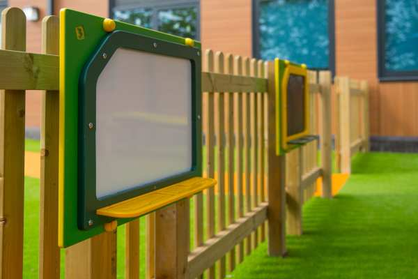 art panels, Playcubed, Valley Provincial, Primary school playground, playground installation, playground construction, bespoke playground design, playground equipment, sensory play area