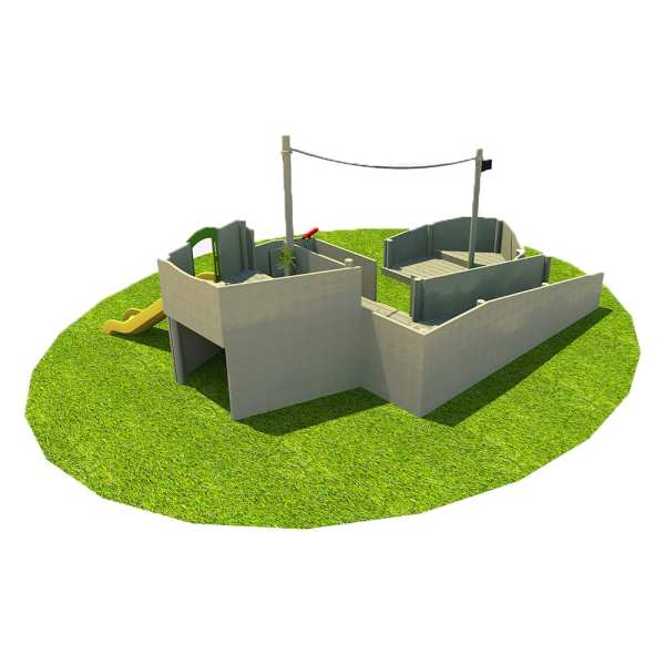 Galleon, Playcubed, Valley Provincial, Primary school playground, playground installation, playground construction, bespoke playground design, themed play area, playground equipment