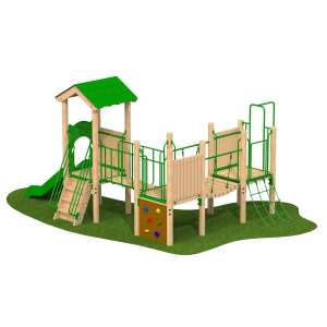 triple deck tower, Playcubed, Valley Provincial, Primary school playground, recreation area, playground installation, playground construction, bespoke playground design, playground landscaping, playground activity frame