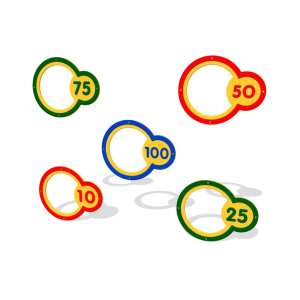 wall target rings, ball games, Playcubed, Valley Provincial, Primary school playground, recreation area, playground construction, bespoke playground design, playground equipment
