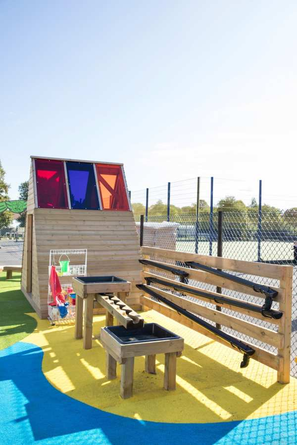 water wall, school water play, Playcubed, Valley Provincial, Primary school playground, playground installation, playground construction, bespoke playground design, playground equipment, sensory play area