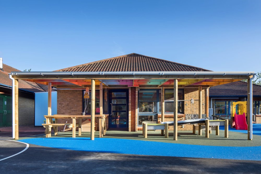playcubed, playground canopy, Valley Provincial, canopies, outdoor classrooms and canopies, canopies installation, canopies installation South East