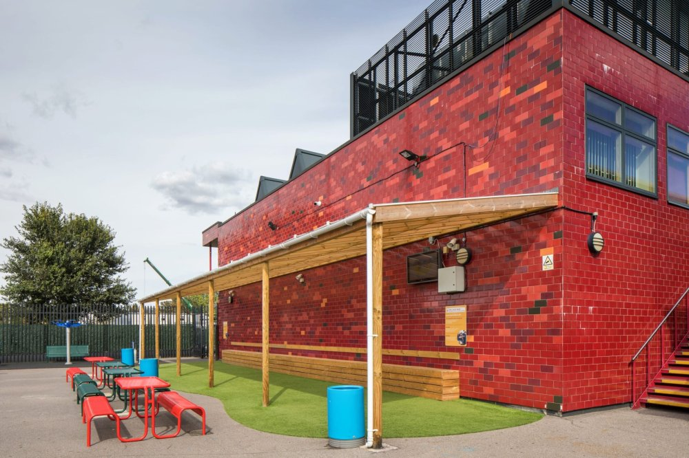 school playground shelters, playcubed, Valley Provincial, canopies, outdoor classrooms and canopies, canopies installation, canopies installation South East