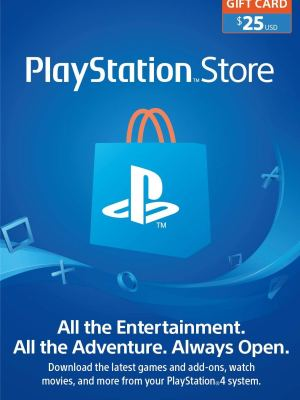 PlayStation Store Gift Card de $25 – Estados Unidos – Código Digital