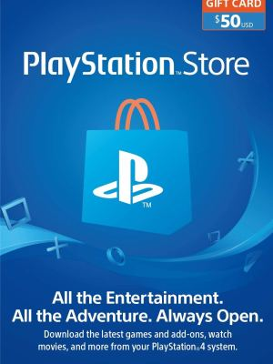 PlayStation Store Gift Card de $50 – Estados Unidos – Código Digital