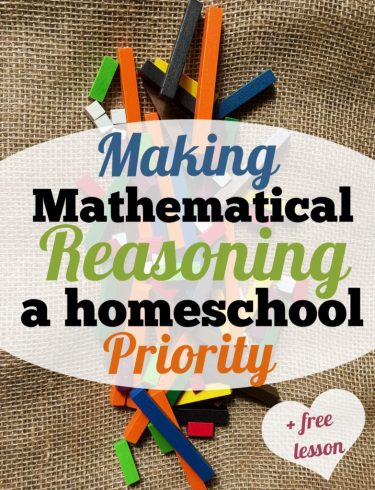 Mathematical reasoning homeschool