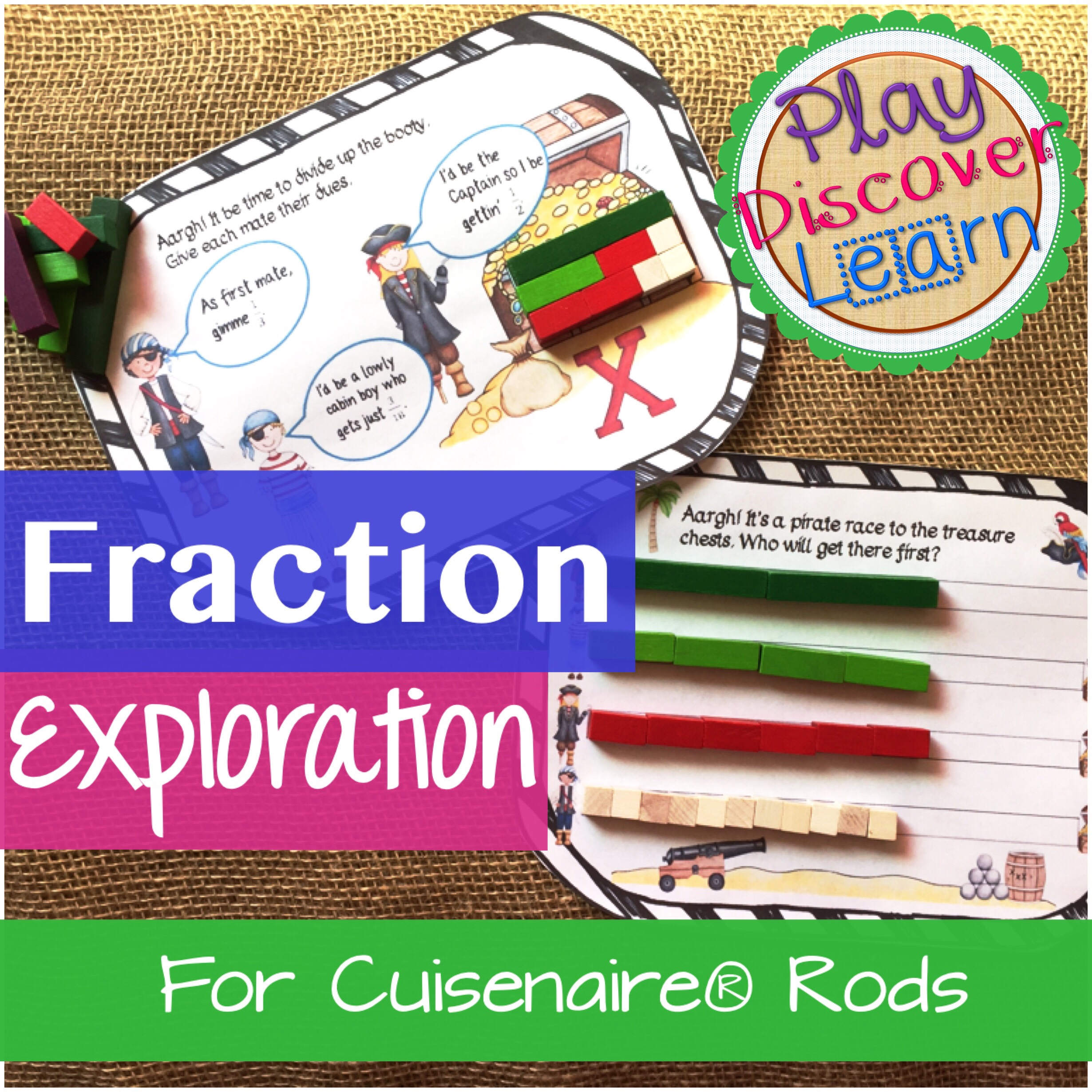 fraction exploration for cuisenaire rods