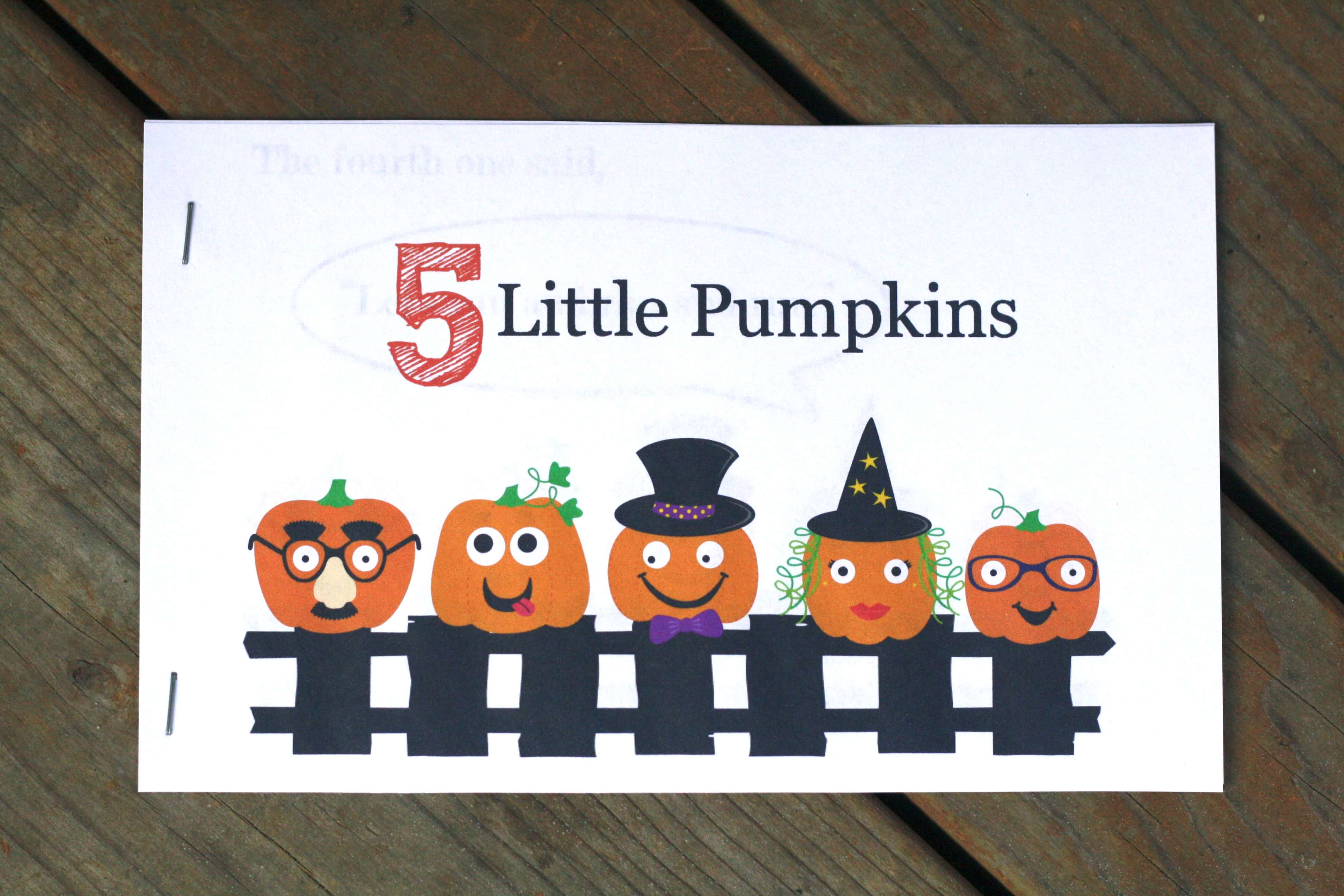 5 Little Pumpkins Activity Packet