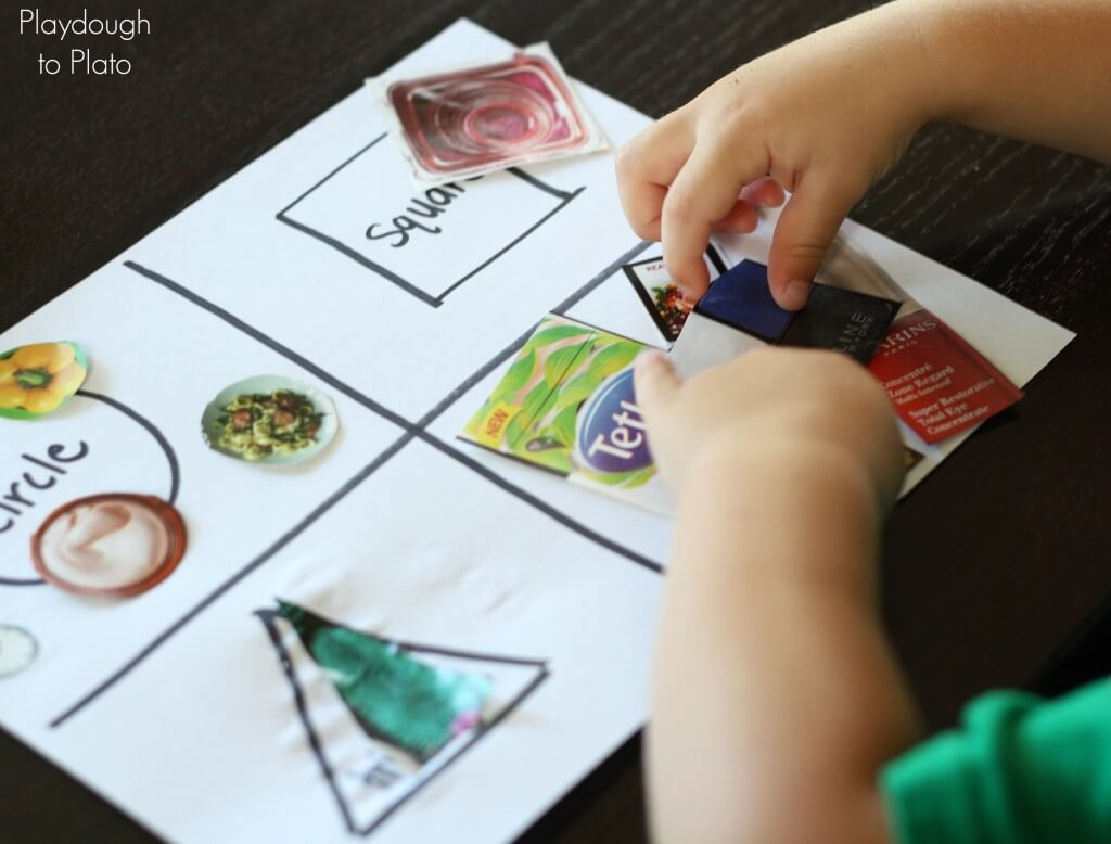 Shape Game For Kids Cut And Paste Shape Sort