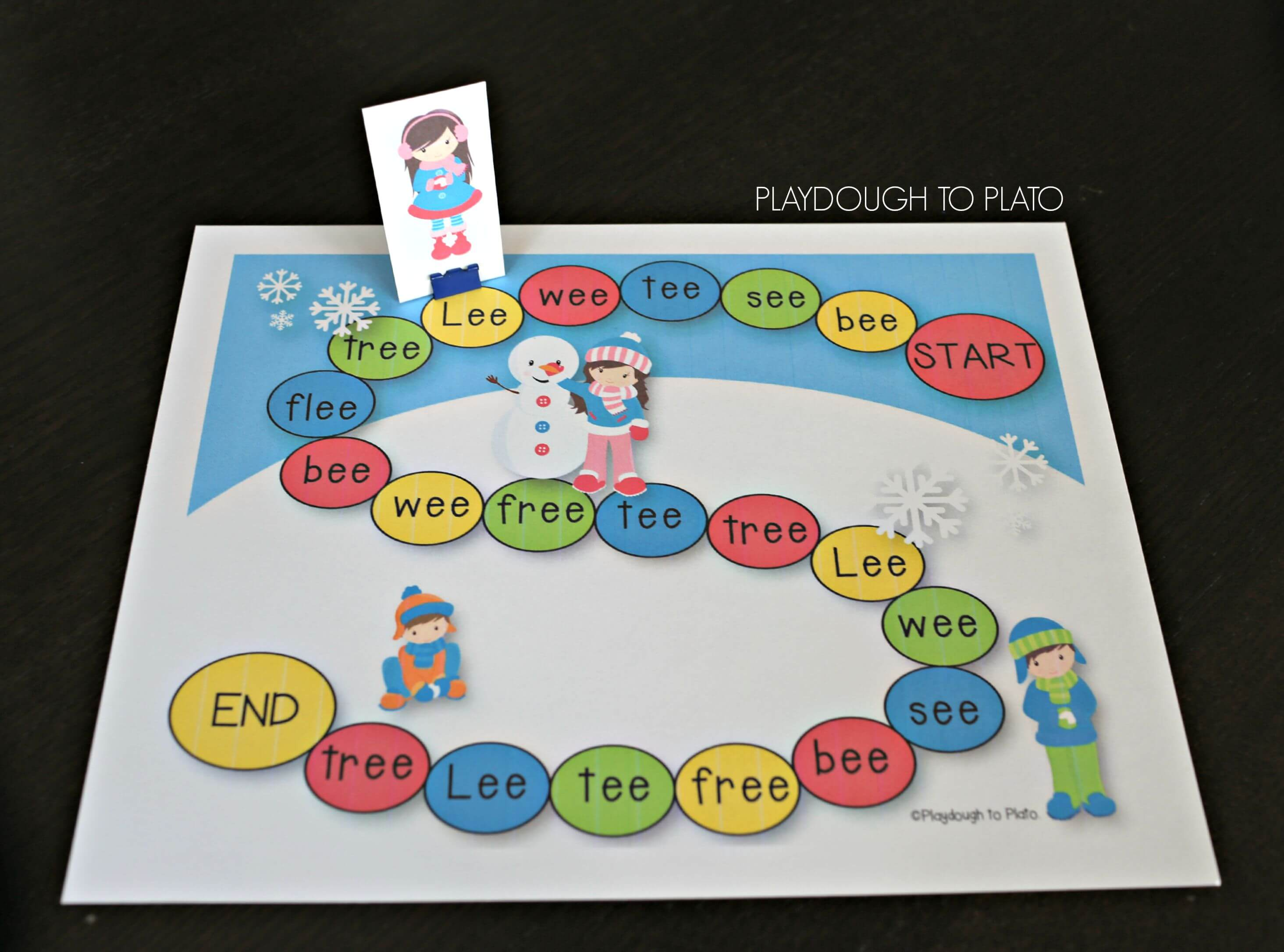 Play In The Snow As You Practice Reading And Writing Ee Words