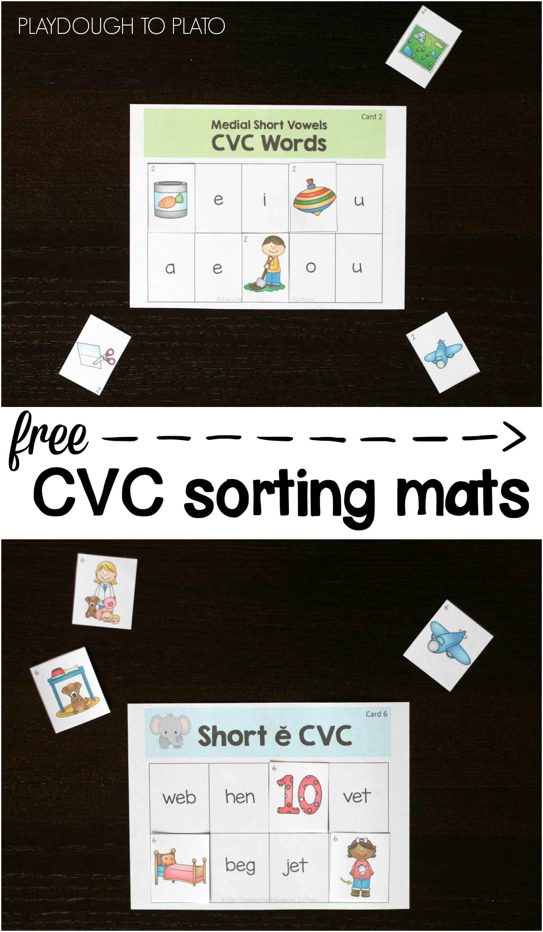 Free Cvc Words Picture Sort