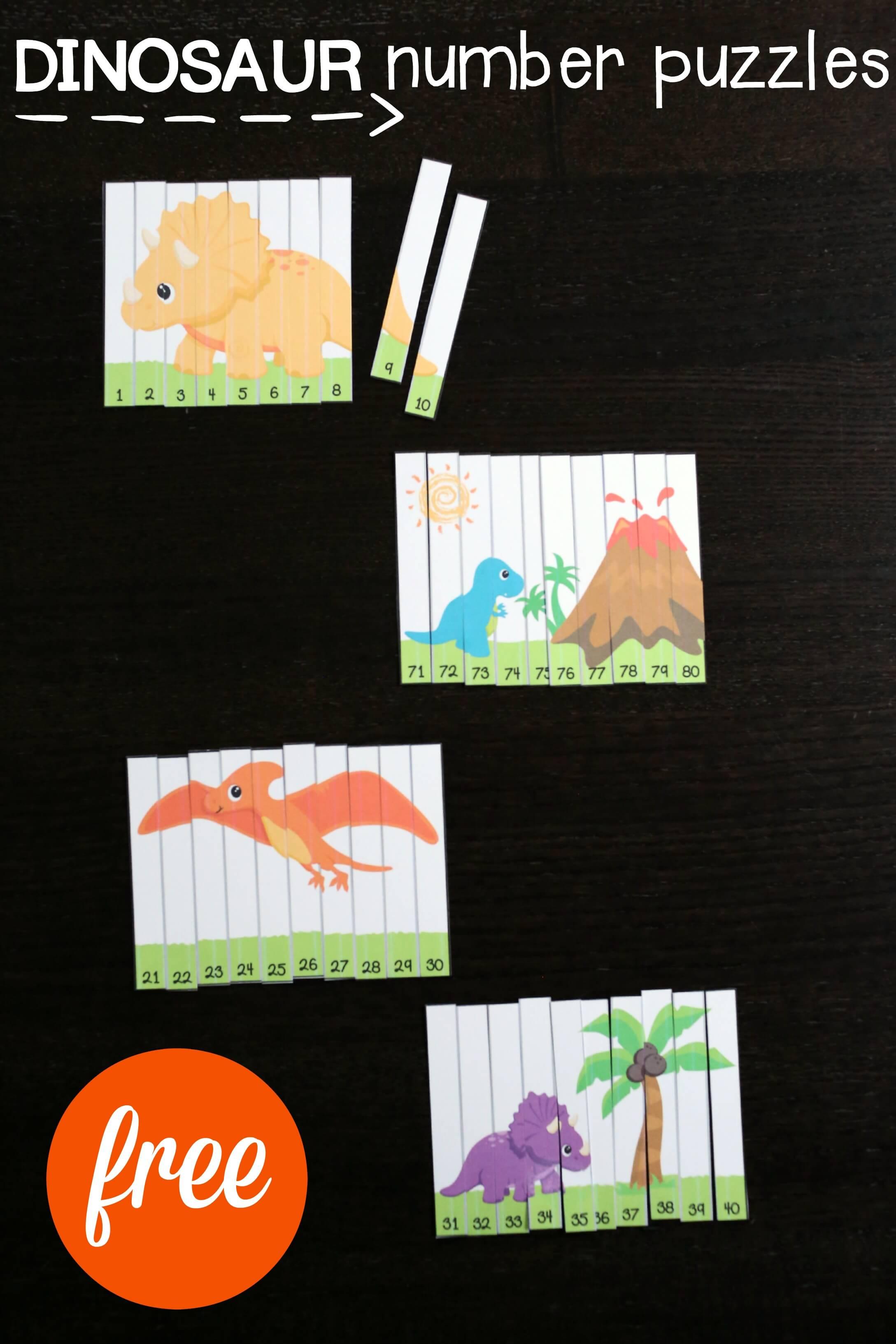 Dinosaur Number Puzzles