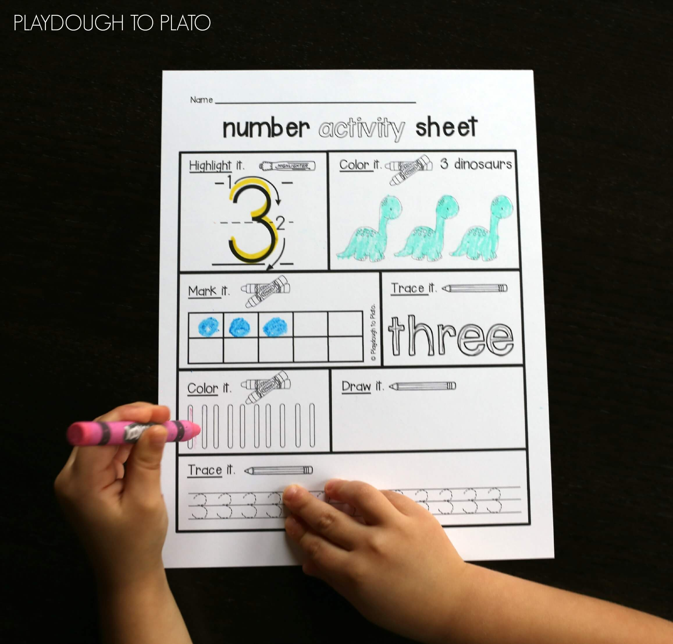Number Activity Sheets