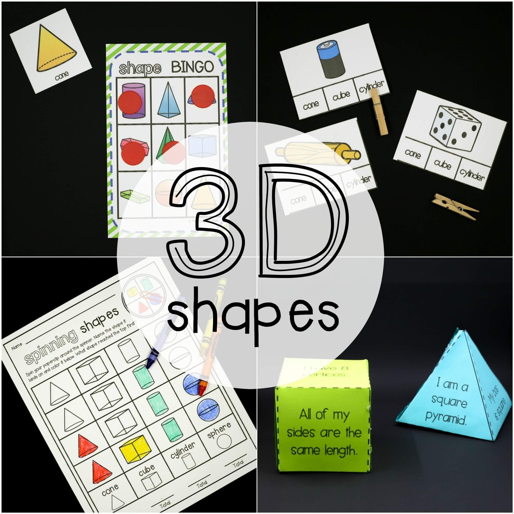 3d Shapes Activity Pack