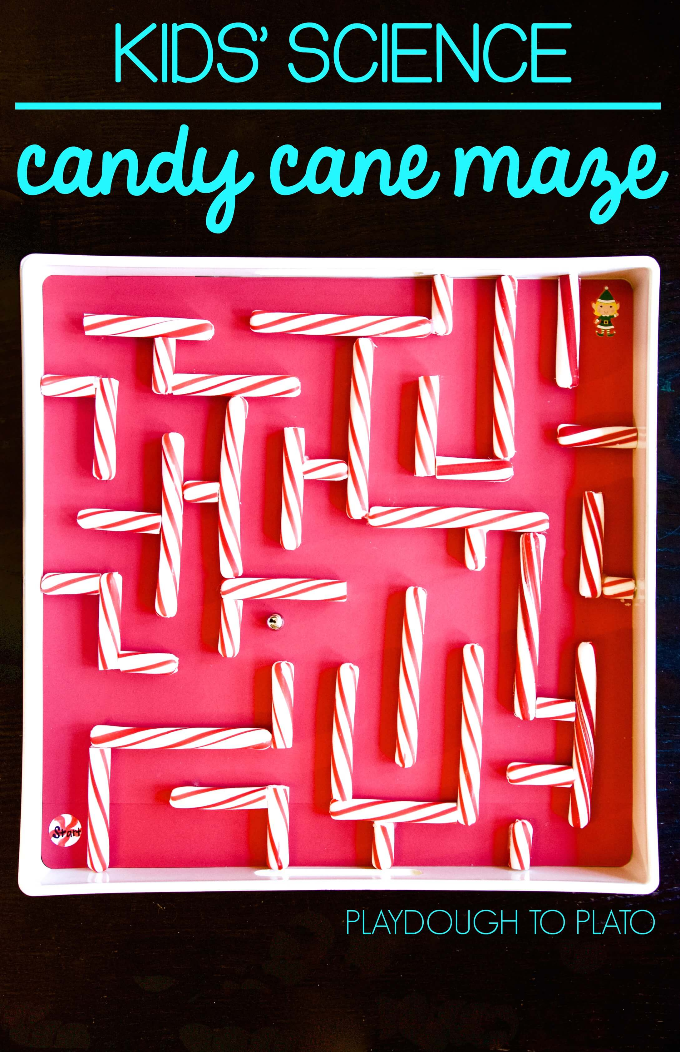 Candy Cane Marble Maze
