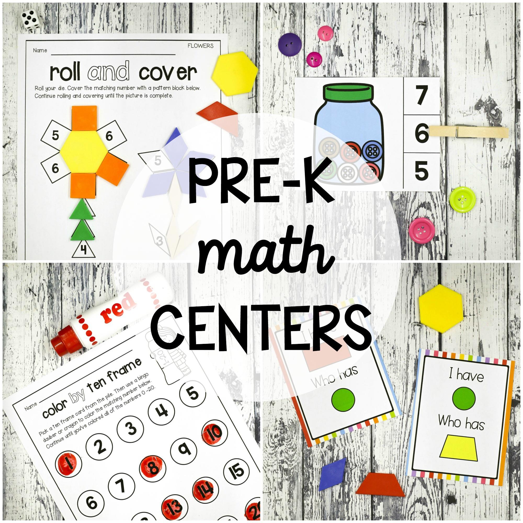 25 Pre K Math Centers